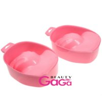 Cheap BeautyGaGa Supply Nail Art Salon Pink Red Accessory Fingers Acrylic Soak Manicure Bowl Nail Art Equipment
