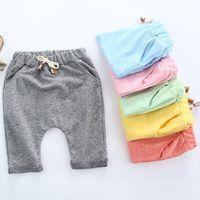 Wholesale Kids Baby Harem Pants Girls Boys Pants Casual Colored Cotton Harem Pants Shorts Trousers PP Pants Baby Clothes Kids Clothing