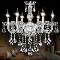 Wholesale Lamparas Pendant Light Light Luminaire Updated More High Crystal Chandelier Lustre Chandeliers Arms Lustres De Cristal Led