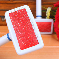 Wholesale Dog Cat Stainless Steel Comb Pet Supplies Hair Brush Wood Handle White Needle Dendity Gilling Quick Clean Puppy Prevent Knotted