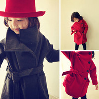 Wholesale retail new children kids autumn winter clothing wind coat girl coats outerwear for girls fasional Trench clothes