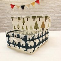 Wholesale Hottest Cute Linen Desk Storage Box Holder Jewelry Cosmetic Stationery Organizer Case Jewelry Cosmetic Stationery Sundries Animal Home Decor