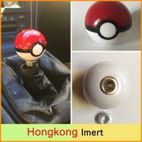 acrylic gear knobs - Diameter mm Acrylic Poke PokeBall Car Racing Gear Shift Knob M12 with adapters