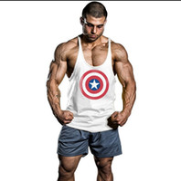 Wholesale 2016 Summer Men Blank Stringer Y Back Cotton Tank Top Gym Bodybuilding Loose Clothing Fitness Shirt Sports Vests Large Size Muscle Tops