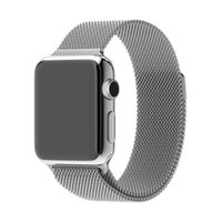 apple loops - Wearable Men Grand Series Milanese Loop Watchbands Stainless Steel for SmartWatch Strap with Connector Clasp