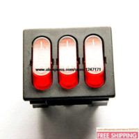 Wholesale NEW Triple Rocker Switch KCD4 power switch red PIN A V pieces Rocker Switches Cheap Rocker Switches