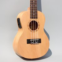 acoustic plug - Concert Acoustic Electric Ukulele Inch Guitar Strings Ukelele Guitarra Handcraft Wood White Guitarist Basswood Plug in