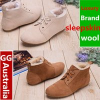 australia luxury boots - 2017 New Luxury Australia Top Quality Women s Shoes Boots Warm Wool Genuine Leather Snow Boots Shoes Winter Boots Womens Shoes Retail Box