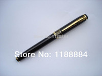 Wholesale 1pcs Baoer Black Polished and Golden Arrow Clip M Nib Ink Brand Fountain Calligraphy pen for promotion