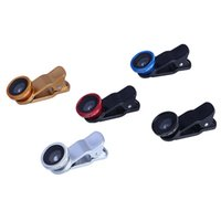 android fisheye - 3 in Universal Cell Phone Camera Lens Kit for iOS Android Fisheye Lens X Wide Angle X Macro Lens Universal Clip