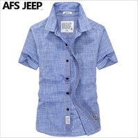 Wholesale 2016 new fashion short sleeved shirt men AFS JEEP summer Battlefield Jeep casual oxford shirt solid color big yards youth