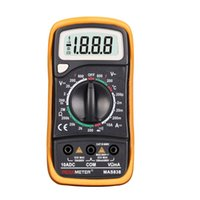 ac temperature meter - 2000 Counts PEAKMETER MAS838 Manual Ranging Digital Multimeter AC DC Voltage Detector Portable Tester Meter with Temperature Measurement