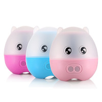 animals projections - Cartoon Pig Rotating Music Cupid Projection Lamp changeable LED Sleeping Light for Kids Christmas Gift Portable Mini sky Night Light project