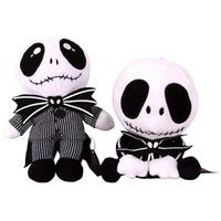 Wholesale 20CM inch The Nightmare Before Christmas Jack Plush Toy Design Stuffed Animals Doll Gifts