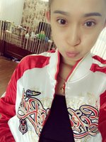 baseball hot jackets - 2016 new fashion women s stage wear white red Splice baseball uniform women girl s dancing sexy short jackets embroidery hot