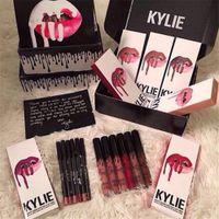 Wholesale 2016 NEW color Sale Kylie Lip Kit Kylie Cosmetic Lipstick Kylie Lip Gloss Liquid Matte Lipstick Lip Liner Kylie Jenner Lip Kit