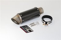 Wholesale 60 mm Universal Real Carbon Fiber Motorcycle Modified Scooter Yoshimura Exhaust Muffler Pipe GSXR CBR250 CB400 CB600 YZF FZ400 Z750