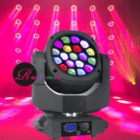 Wholesale Hot x15W Bee Eye Moving Head Disko Projector Zoom RGBW LED DMX DJ Beam Spot Stage Effect Party Lights