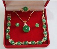 nature green jade bracelet - gt gt gt noble nature green emerald jade necklace bracelet earring ring