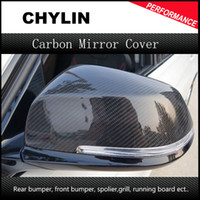 Wholesale Replacement carbon fiber rear view side mirror cover caps for BMW X Series F20 F22 F23 F30 F32 F33 X1 E84