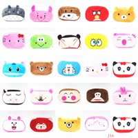 Wholesale Colour Kawaii Cartoon Animal Plush Pencil Cases Bags Plush Pencil Holder Storage Pouch Cosmetic Bag wallet phone package