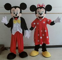 adult mini mouse costumes - 0524 adult mickey mouse mascot costume with mini fan inside the head for mascot
