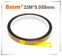 Wholesale High quality polyimide tape mm m inch yard high temp resistance polyimide tape used in BGA soldering
