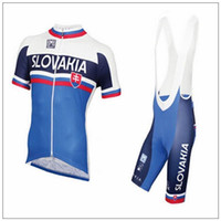 Wholesale 2016 new Quick Dry Breathable Slovakia cycling clothing short sleeves cycling jersey bib short set maillot culote cycling jerseys