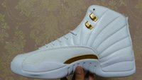 Wholesale Retro XII October s OVO Mens Basketball Shoes White Gold Men Sneakers Us Size