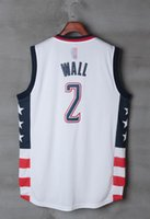 Wholesale NEW Mens John Wall shirt Cheap John Wall Basketball shirts Stitched John Wall Shirt Fast mixed order