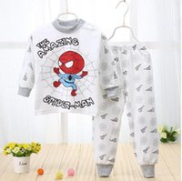 Wholesale More than new design more color pure cotton baby children s long suit Green healthy baby pajamas drop shipping