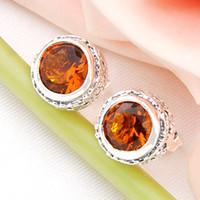 Wholesale Newest Sale Direct Selling Stud Women s Sterling Silver Sterling Silver Jewelry Swiss Blue Topaz Gemstone Earring Le0485