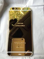 apple iphone dubai - 24CT Gold Plating Back Housing Cover Case Battery Cover For iPhone G plus dubai Limited Edition Kt Bezel Frame Faceplate