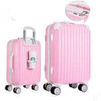 Wholesale Trolley case trunk box board box suitcase travel luggage caster inch inch
