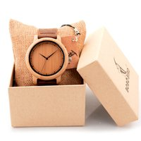 Wholesale Luxury Brand BOBO BIRD Men Bamboo Wood Watches Men and Women Quartz Clock Fashion Casual Leather Strap Wrist Watch Male Relogio