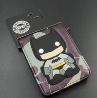 animated flash card - Animated Cartoon Wallet Pop Heroes Batman Brieftasch Q version Batman Superman Flash Wallet Young Student Personality Purse