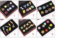 Wholesale 6 Style Children Poke Metal Badge Brooch toys Zinic Alloy Brooch poke Action Figures Anime set with box toy