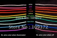 Wholesale m Fexible Neon Light Glow EL Wire Rope for Shop or House Christmas Decoration Noel Exterieur m
