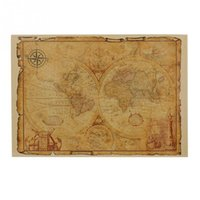 Wholesale Hot Large Vintage Style Retro Paper Poster Gifts x cm Globe Old World Map