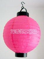 Wholesale Lamps rose cm battery light paper lantern pendant light cover wedding lamp small table lamp battery light