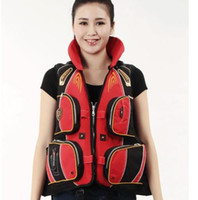 Wholesale Universal Adult PE Life Jacket Vest Flotation Device For Fishing Outdoor Sports