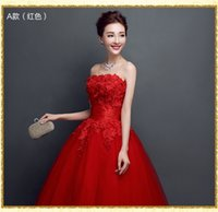 Wholesale 2016 Bra paragraph cocktail evening dress bride married toast dress dinner dress lace long section of high end dress long sleeved dress