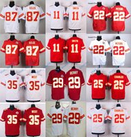 Wholesale Chiefs Jeremy Maclin Alex Smith Elite Footballl Jerseys Stitched White Red Color