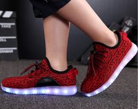 Kids 350 Boost Sneakers Baby Led Bottes Chaussures Running Chaussures de sport bottines chaussures pour tout-petits cheap Sneakers Training