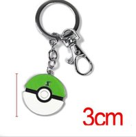 Wholesale 12 Color cm Poke Metal Pendant Poke Ball Keychain Alloy Figures Japan Craft Hot Anime Collection Kids Gifts Toy OPP K7679