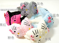 Wholesale New Cute Winter Warm Faux Fur Hello Kitty Years Children s Bowknot Earmuffs Colors