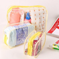 Wholesale multi size Waterproof Clear Transparent PVC Cosmetic Bag Organizer Makeup Pouches Tote for Travel package for swimwear