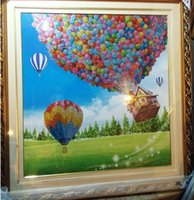 Wholesale Diamond embroidery x92CM Diy D Round Diamond painting Cross Stitch Scenic crystals mosaic Hot Air Balloon decorative painting