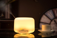 Wholesale 2016 Colorful LED Mhz Ultrasonic Aromatherapy ML Aroma Diffuser Atomizer Air Humidifier Essential Oil Diffuser ST