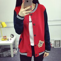 Wholesale 2016 fall and winter clothes new European and American big yards loose fat MM baseball uniform long sleeved cardigan jacket small collar sin